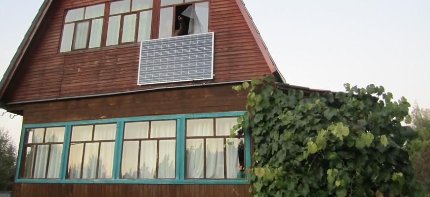 Солнечная электростанция 310Втх2шт (2014 Подмосковье)